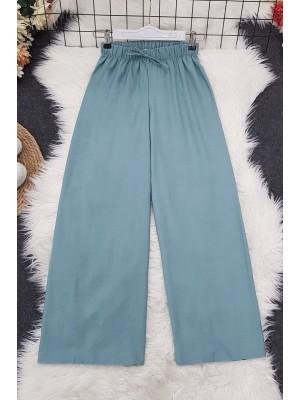 Wide Elastic Waist Trousers    -Mint Color
