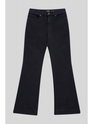 Lycra Wide Leg Trousers -Black