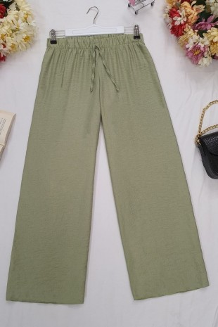 Beli Lastikli Salaş Pantolon -Yeşil