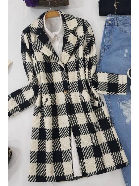 Single Button Jacket -Black
