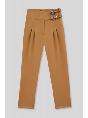 Buckled Waist Trousers  -Cinnamon