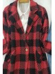 Single Button Jacket -Red