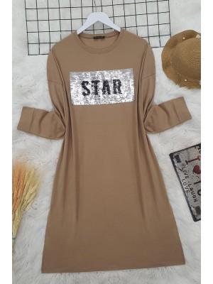 Sequin Tunic -Mink color