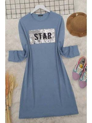 Sequin Tunic -Blue