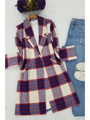 Shawl Collar Coat -Blue