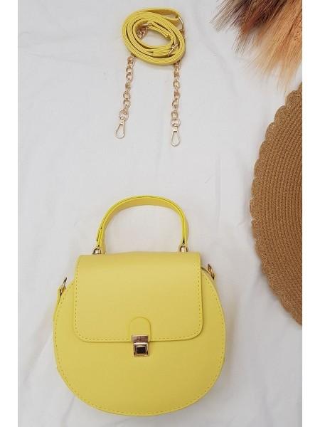 Round Women Bag -Yellow