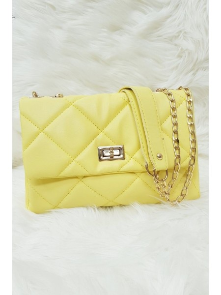 Quilted Women's Bag -Yellow