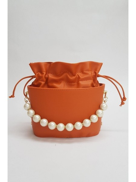 Women's Drawstring Bag -Orange