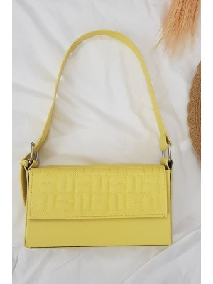 Kutu Kadın Çanta -Sarı