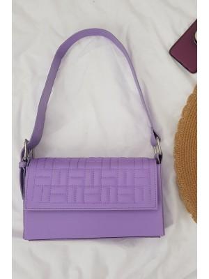 Kutu Kadın Çanta -Lila
