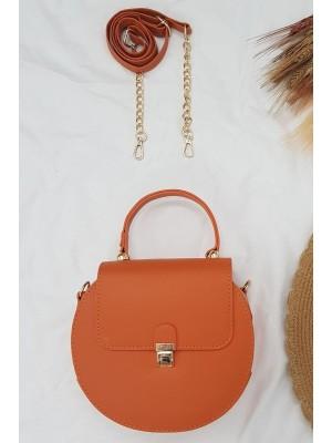 Round Women Bag -Orange
