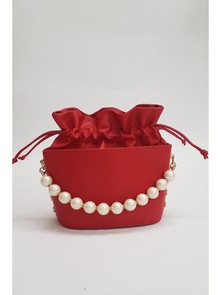 Women's Drawstring Bag -Red
