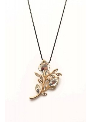 Stone Branch Necklace -Gold