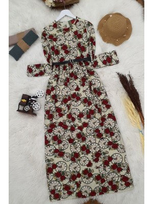 Arched Dress   -Ecru