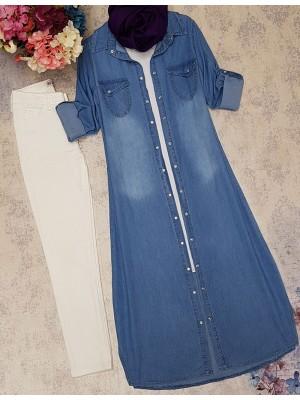 Jean Tunic   -Light blue