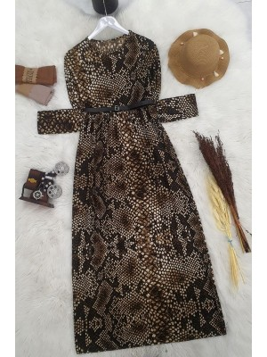 Arched Dress   -Brown