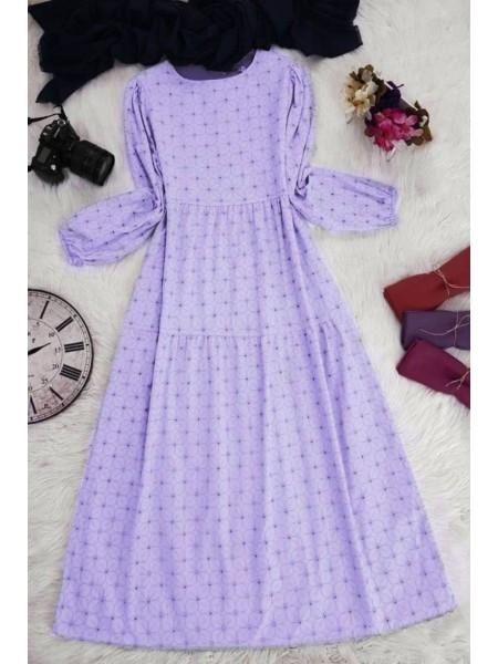 Piece Linen Dress  -Lilac