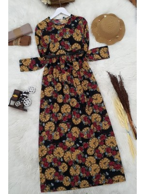Arched Dress   -Mustard