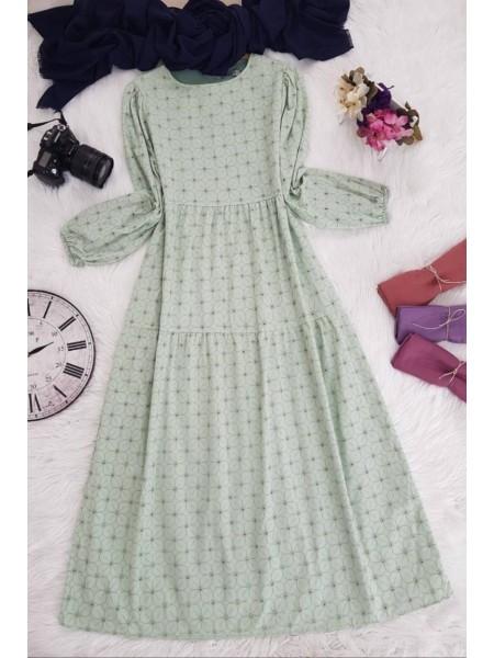 Piece Linen Dress -Green