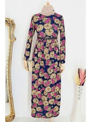 Arched Dress   -Fuchsia