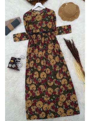Arched Dress   -Khaki