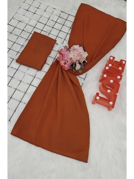 scarf    -Brick color