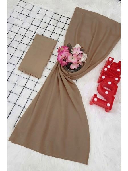 scarf   -Mink color