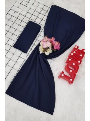 scarf -Navy blue