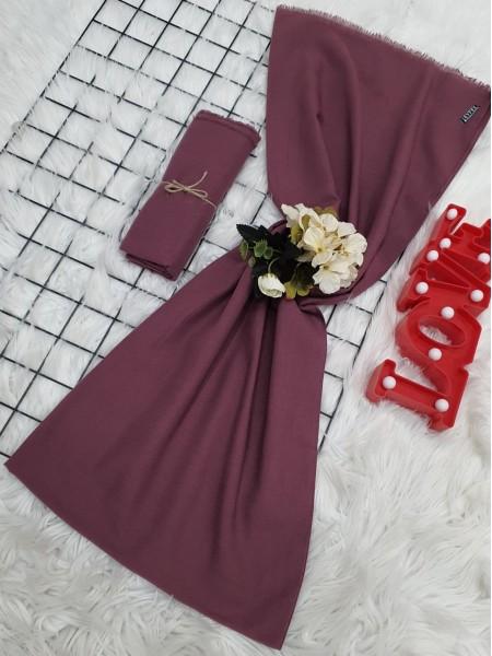 Plain Cotton Shawl -Cherry Color
