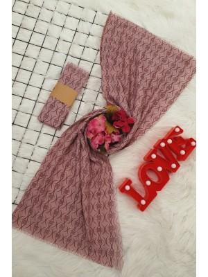 Thin Viscose Shawl -Pink