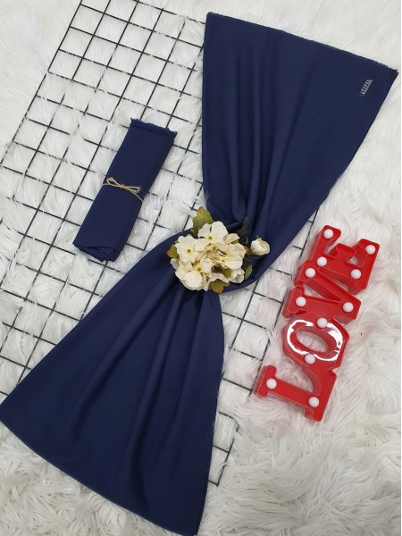 Plain Cotton Shawl -Navy blue