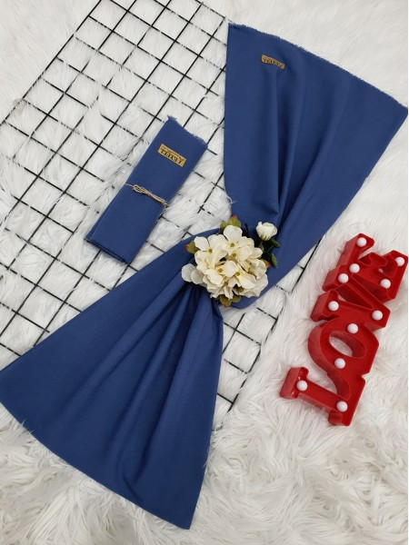 Plain Cotton Shawl -Dark blue