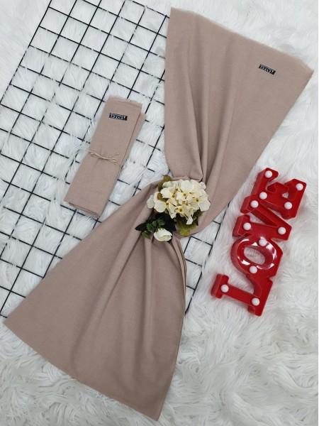 Plain Cotton Shawl -Cream color