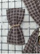 Icon Printed Thin Scarf -Mink color