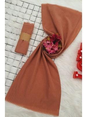Striped Cotton Shawl -Dried rose