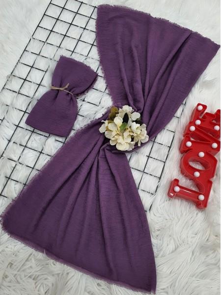 Cress Fabric Plain Scarf - Purple