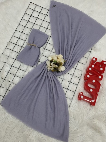 Cress Fabric Plain Scarf -Lilac