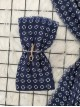 Icon Printed Thin Scarf -Navy blue