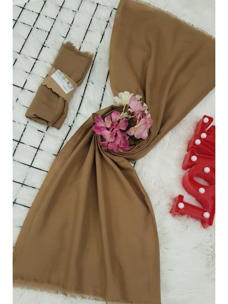 Thin Cotton Shawl  -Cinnamon