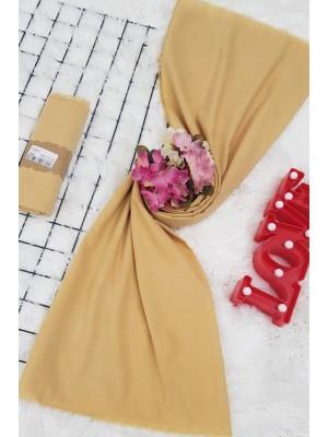 Plain Cotton Shawl  -Yellow
