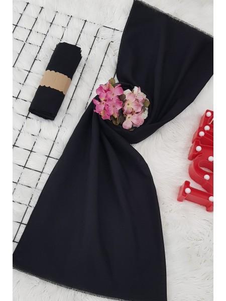 Plain Cotton Shawl -Black