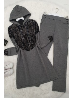 Messy Silvery Set -Grey