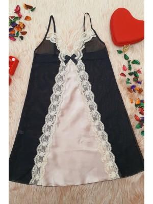 Lace Nightgown Set -Powder