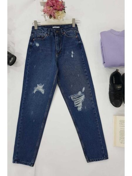Mom Jeans -İndigo