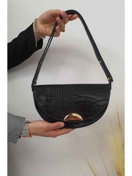 Magnetic Round Bag -Black