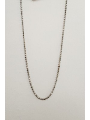 Six Flat Top Oval Metal Women's Necklace -Silver