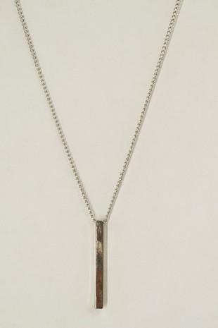 Metal Parçalı Kolye -Gümüş