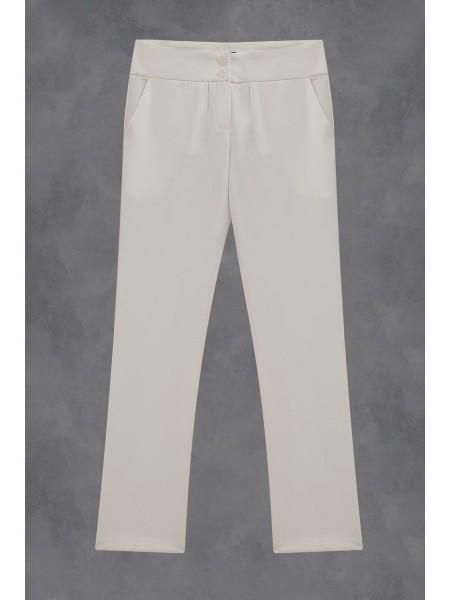Double Button Trousers -Ecru