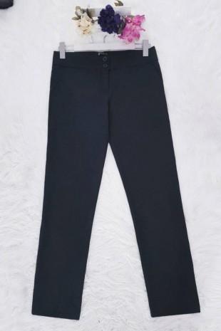 Çift Düğmeli Pantolon -Siyah