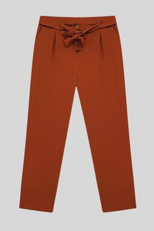 Kemerli Bilek Pantolon  -Kiremit